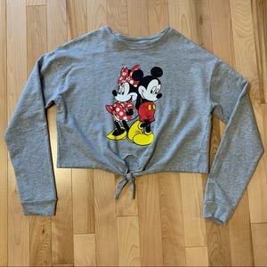 Disney Mickey&Minnie Tie-Front Sweatshirt ❤️